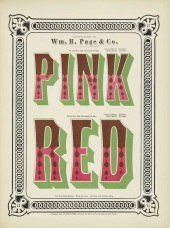 Chromatic Wood Type Pink Red