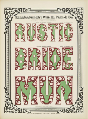 Rustic Bride Mun Chromatic Wood Type