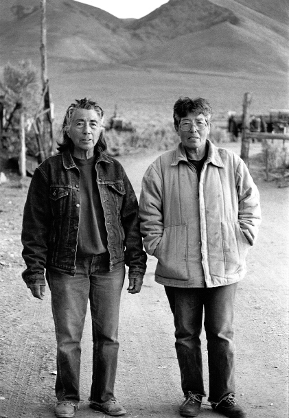 Mary and Carrie Dann, Western ShoshoneCrescent Valley, Nevada, 1992
