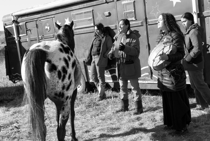 Women at Standing Rock, S.D (?)